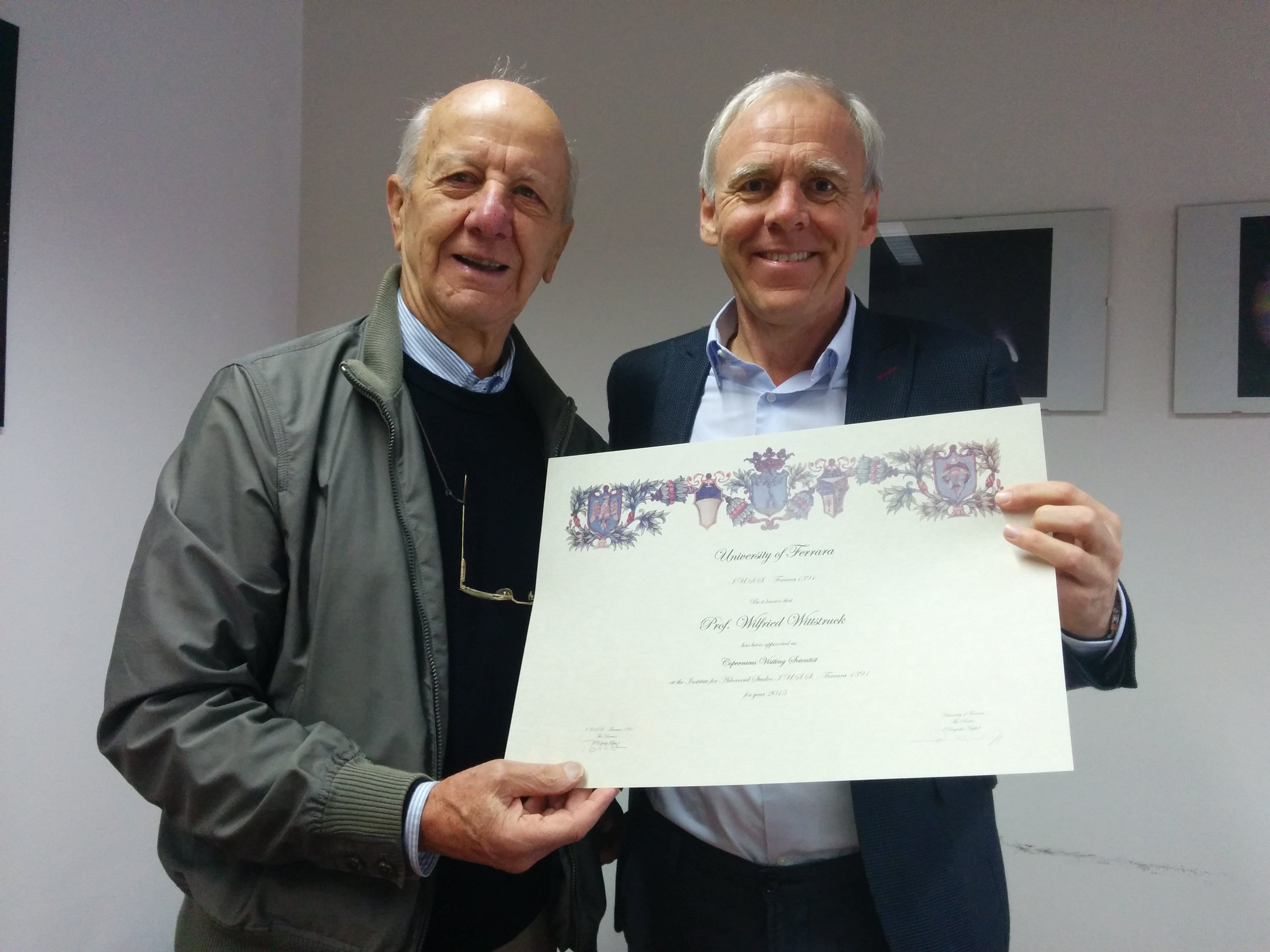 Consegna diploma_Prof. Wittstruck
