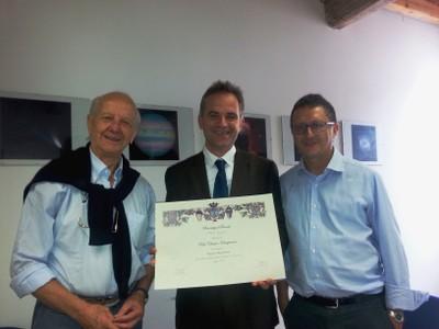 Consegna diploma CVS Prof. Kotsogiannis